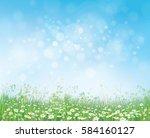 vector summer nature ... | Shutterstock .eps vector #584160127