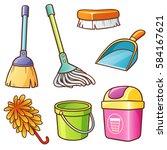 vector illustration of cartoon...   Shutterstock .eps vector #584167621
