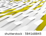 abstract 3d rendering of white... | Shutterstock . vector #584168845