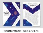 abstract vector layout... | Shutterstock .eps vector #584170171