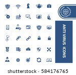 anti virus computer icon set... | Shutterstock .eps vector #584176765