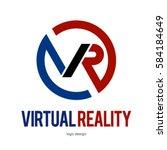 vr virtual reality logo icon... | Shutterstock .eps vector #584184649