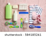 baby care accessories and... | Shutterstock . vector #584185261