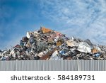 scrap metal on recycling plant...