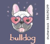 bulldog   vector  illustrator | Shutterstock .eps vector #584190199