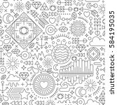 seamless pattern with abstract... | Shutterstock .eps vector #584195035