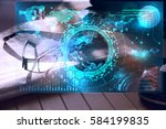 modern business workflow... | Shutterstock . vector #584199835