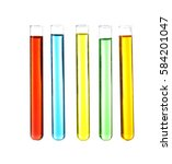Test Tubes With Colourful...