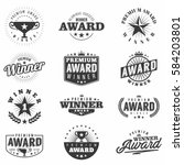 monochrome award labels  logos... | Shutterstock .eps vector #584203801