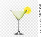 vector realistic glass martinka.... | Shutterstock .eps vector #584205649