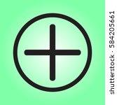 plus icon  positive symbol... | Shutterstock .eps vector #584205661