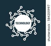vector logo technology | Shutterstock .eps vector #584205997
