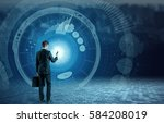business and technology concept ... | Shutterstock . vector #584208019