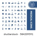 medical icon set clean vector | Shutterstock .eps vector #584209591