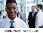 portrait of smiling businessman ... | Shutterstock . vector #584213335