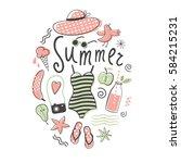 summer vector illustration | Shutterstock .eps vector #584215231