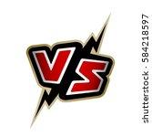 versus letters. vs logo. | Shutterstock .eps vector #584218597