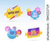 colorful big and super sale... | Shutterstock .eps vector #584222719