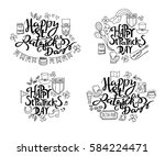 saint patrick's day traditional ... | Shutterstock .eps vector #584224471
