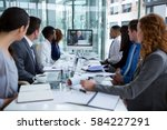 business people looking at a... | Shutterstock . vector #584227291