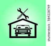 car in the garage icon ... | Shutterstock .eps vector #584228749