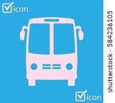 bus icon. schoolbus symbol.... | Shutterstock .eps vector #584236105