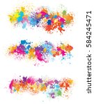 elements  for design from paint ... | Shutterstock .eps vector #584245471