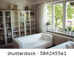 interior of living room at home | Shutterstock . vector #584245561