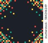 abstract pixel background.... | Shutterstock .eps vector #584246149