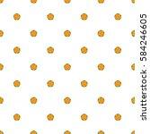 Five Petal Orange Flowers On A...