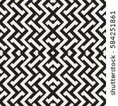 interlacing lines maze lattice. ... | Shutterstock .eps vector #584251861