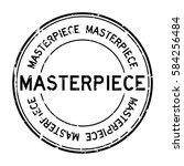 grunge black masterpiece round... | Shutterstock .eps vector #584256484