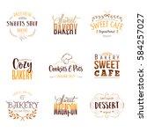 badge set for small businesses  ... | Shutterstock .eps vector #584257027