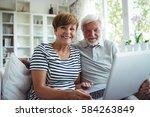 portrait of senior couple... | Shutterstock . vector #584263849
