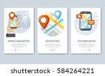 navigation and location banners ... | Shutterstock .eps vector #584264221
