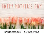 happy mother's day text sign on ... | Shutterstock . vector #584264965