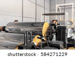 polypropylene and polyethylene... | Shutterstock . vector #584271229