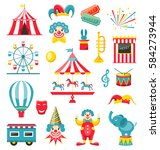 illustration circus and... | Shutterstock . vector #584273944