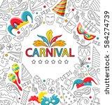 illustration carnival... | Shutterstock . vector #584274739
