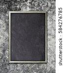Single Blank Blackboard Frame...