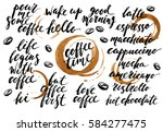 hand drawn ink lettering with... | Shutterstock .eps vector #584277475