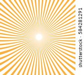 vector background sun rays with ... | Shutterstock .eps vector #584281291