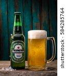 heineken lager beer  dutch ... | Shutterstock . vector #584285764