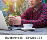 close up of business man or... | Shutterstock . vector #584288785