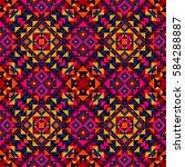 ethnic geometric pattern ... | Shutterstock .eps vector #584288887