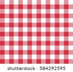 red seamless table cloth with