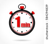 illustration of one minute...   Shutterstock .eps vector #584294839