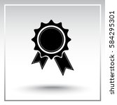 award sign icon  vector... | Shutterstock .eps vector #584295301