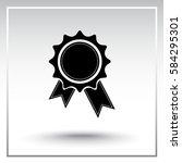 award sign icon  vector... | Shutterstock .eps vector #584295301
