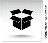 box sign icons  vector... | Shutterstock .eps vector #584295424